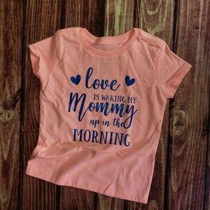 Custom shirt little girl mommy
